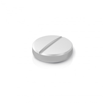 Realistic pill. illustration isolated
