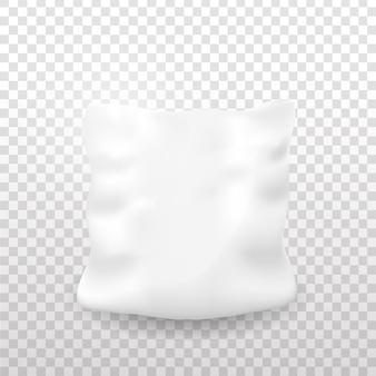 透明な背景の上に現実的な枕。