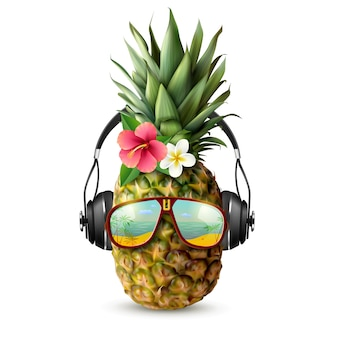 Realistic pineapple concept