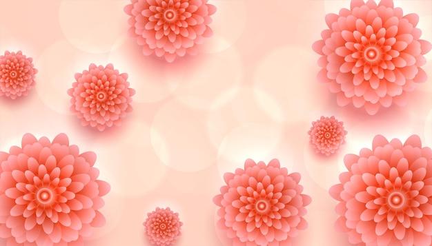 Bellissimo sfondo di fiori rosa realistici