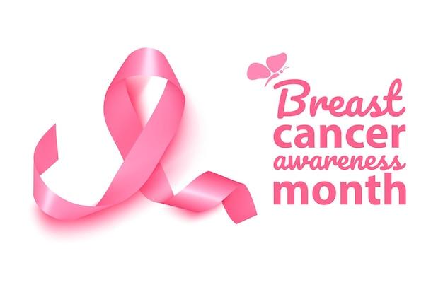 リアルなピンクリボン、乳がん啓発シンボル