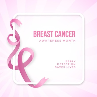 Реалистичная осведомленность о раке с розовой лентой