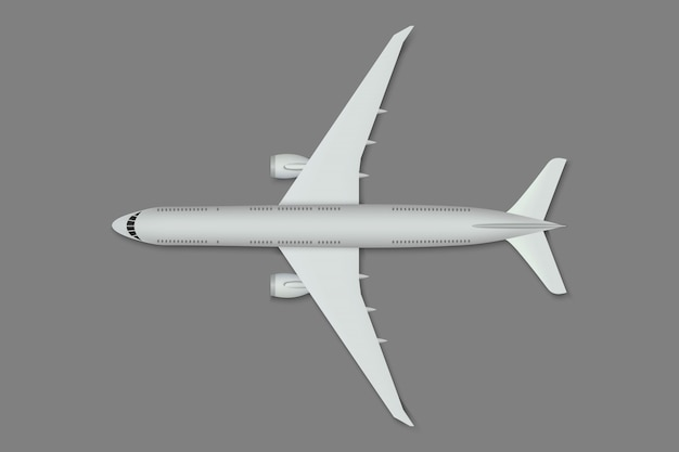 Realistic plane isolated.