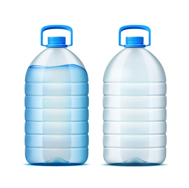 Realistic plastic bottle for water delivery design