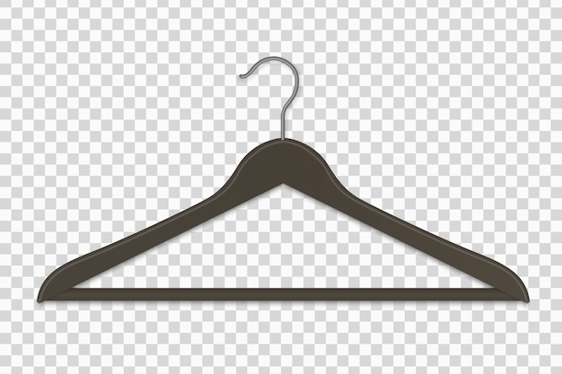 Realistic plastic clothes hanger isolated vector illustration