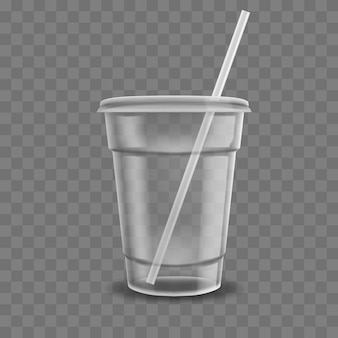 Realistic plastic coffee cup illustration