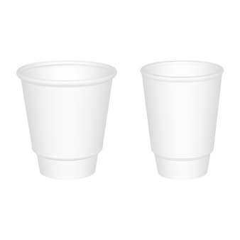 Realistic plastic cup.