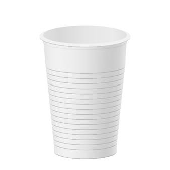 現実的なプラスチック製のコップ。