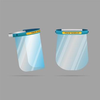Realistic plastic face shield concept