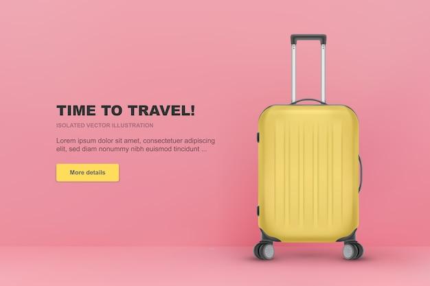 リアルなプラスチック製スーツケース