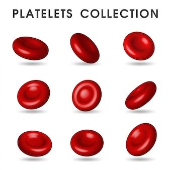인체의 혈관을 순환하는 현실적인 혈소판 그래픽