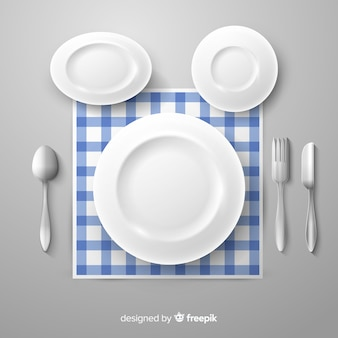 Realistic plates background