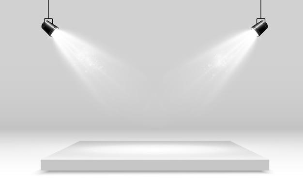Realistic platform on a transparent background