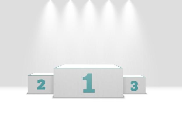 Реалистичный подиум победителей, изолированные на белом фоне