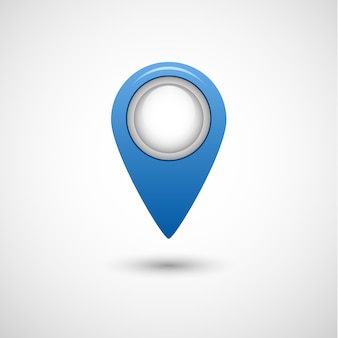 Realistic pointer icon for map