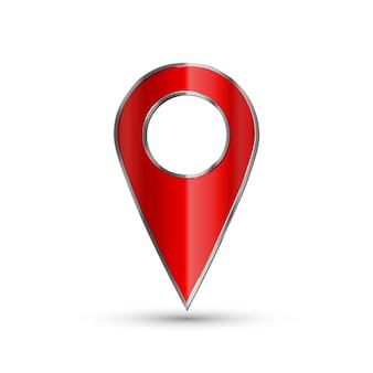 マップの現実的なポインター。赤い地図マーカー
