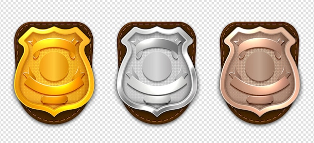 Realistic police badges