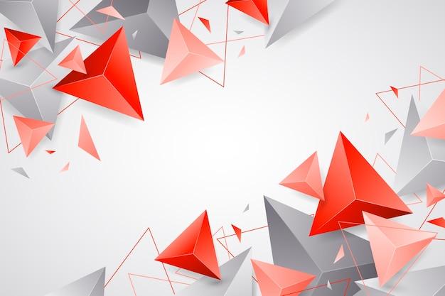 Реалистичный многоугольный фон Premium векторы