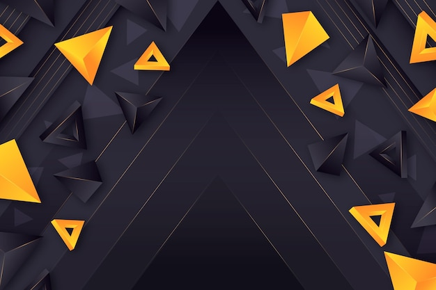 Realistic polygonal shapes background