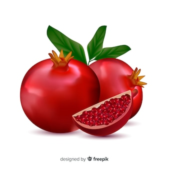 Realistic pomegranate background