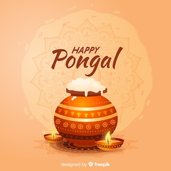 Realistic pongal background