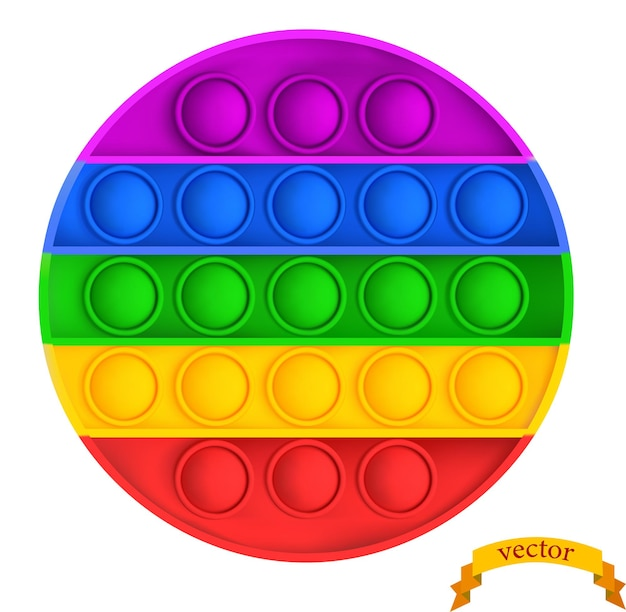 リアルなポップそれは正方形の形をしたそわそわした子供の感覚のおもちゃです