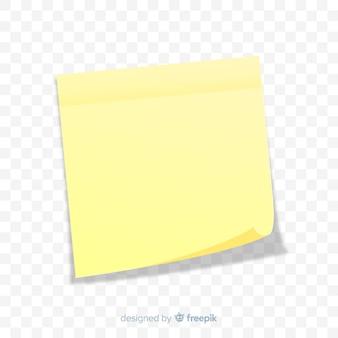 Реалистичная записка на прозрачном фоне