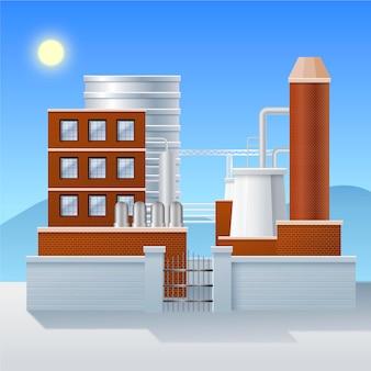 Realistic power plant illustration