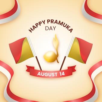 Realistic pramuka day illustration