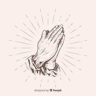 Realistic praying hands background