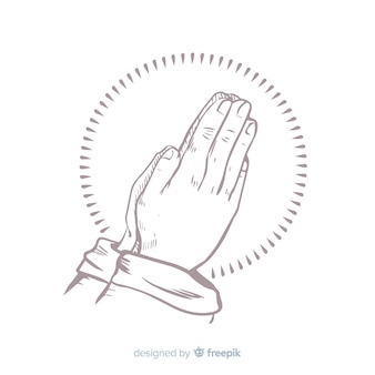 Realistic praying hands