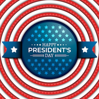 Realistic president's day flag