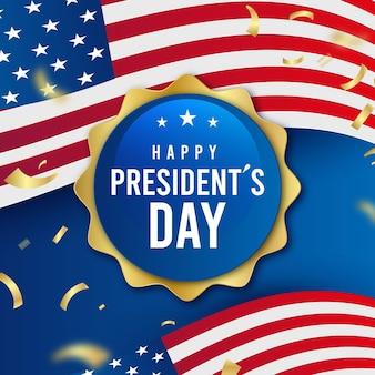 Реалистичный шаблон дня президента