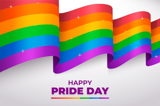 Realistic pride day background