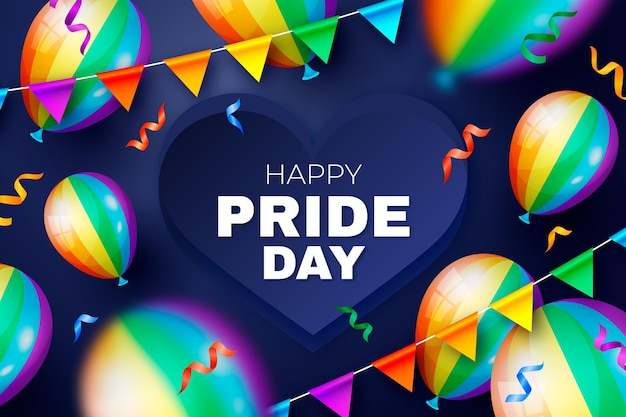 Realistic pride day illustration