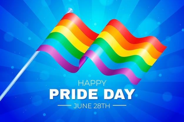 Реалистичная иллюстрация дня гордости