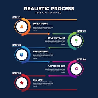 Realistic process infographic