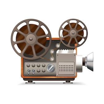 Realistic professional film projector