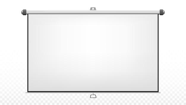 Реалистичный проекционный экран изолированный вектор