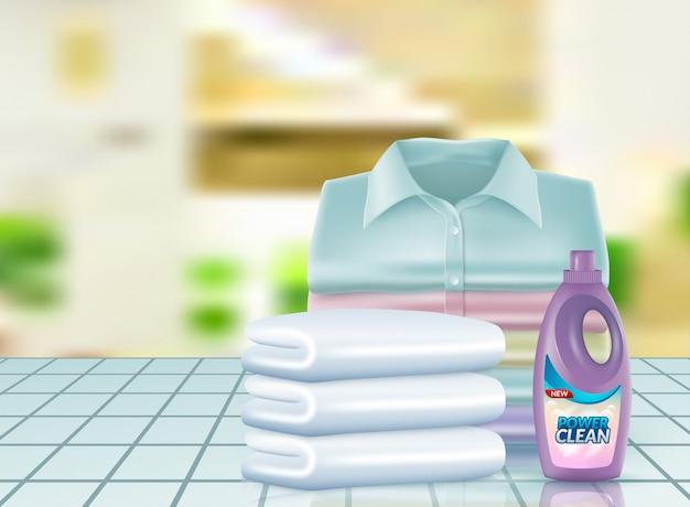 粉末洗剤のリアルな宣伝 Premiumベクター