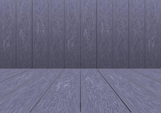 Realistic purple wood room empty background vector.
