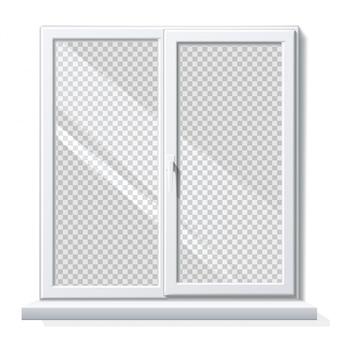 Realistic pvc window white blank