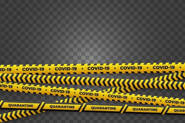 Realistic quarantine stripe set concept