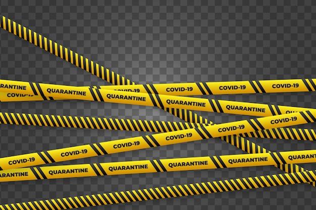 Realistic quarantine stripe set