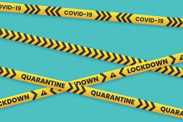 Realistic quarantine stripes concept