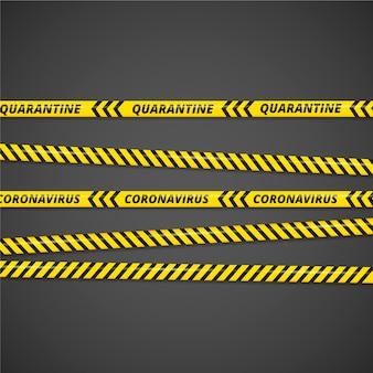 Realistic quarantine stripes style