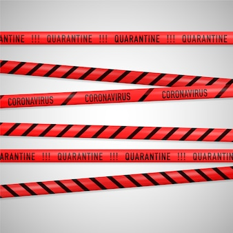 Realistic quarantine stripes theme