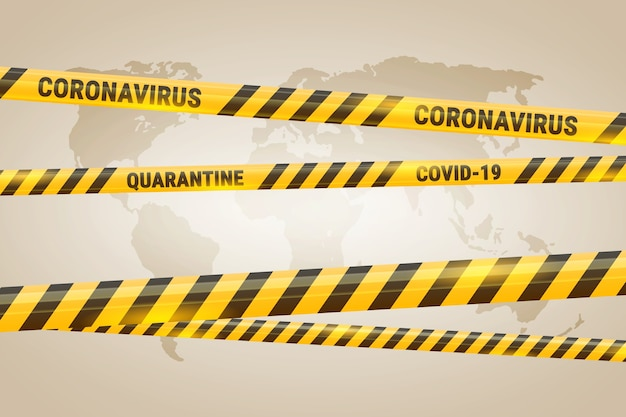 Realistic quarantine stripes