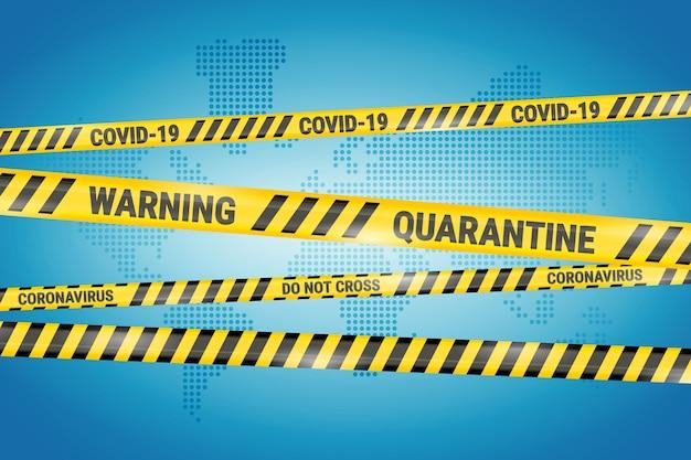 Realistic quarantine stripes