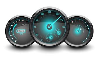 Realistic Racing car Speedometer